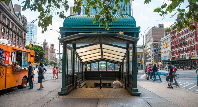 Subway Station, Astor Place, East Village, New York City, New York, USA