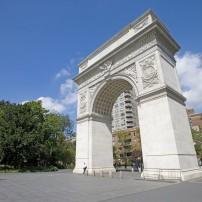 Washington Square Arch, Square Park, Greenwich Village, New York City, New York, USA