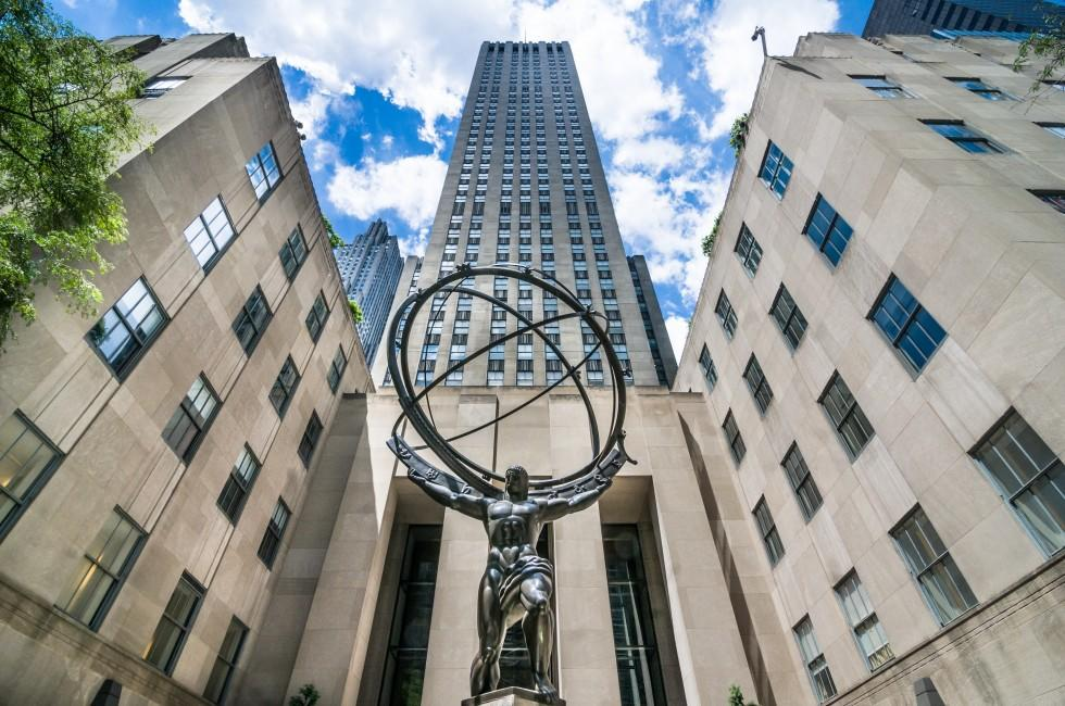 Atlas Statue, Rockefeller Center, Midtown East, New York City, New York, USA