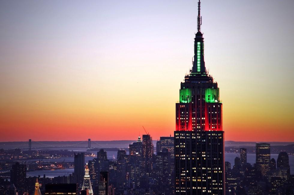 Sunset, Empire State Building, Manhattan, New York City, New York, USA