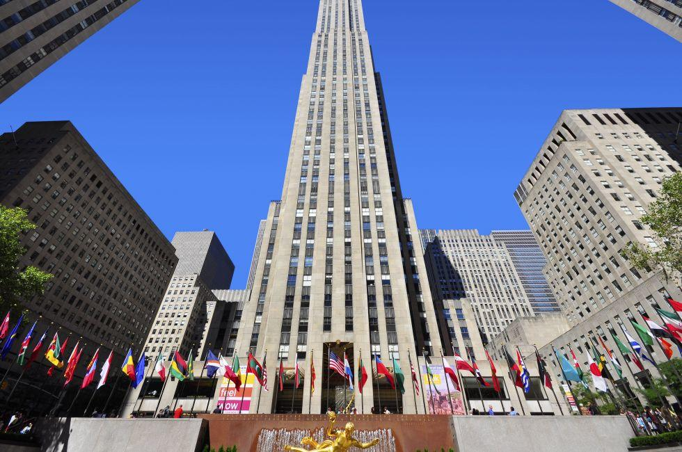 Rockefeller Center, Midtown West,  New York City, New York, USA.