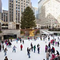 The Rink at Rockefeller Center, Midtown West,  New York City, New York, USA.