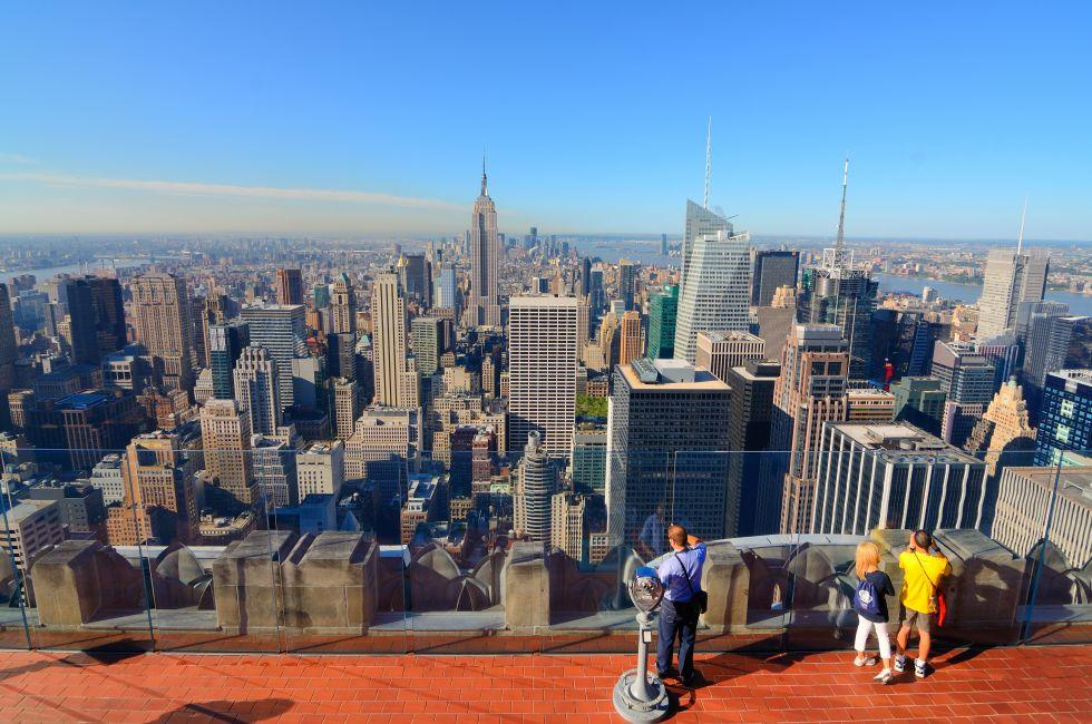 Top of the Rock; Rockefeller Center, Midtown West, New York City, New York, USA, North America