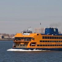 Boat, Staten Island Ferry, New York City, New York, USA