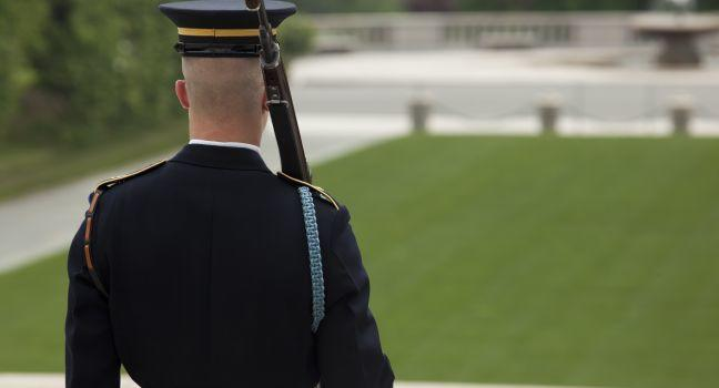 Guard, Arlington National Cemetery, Washington, D.C., USA