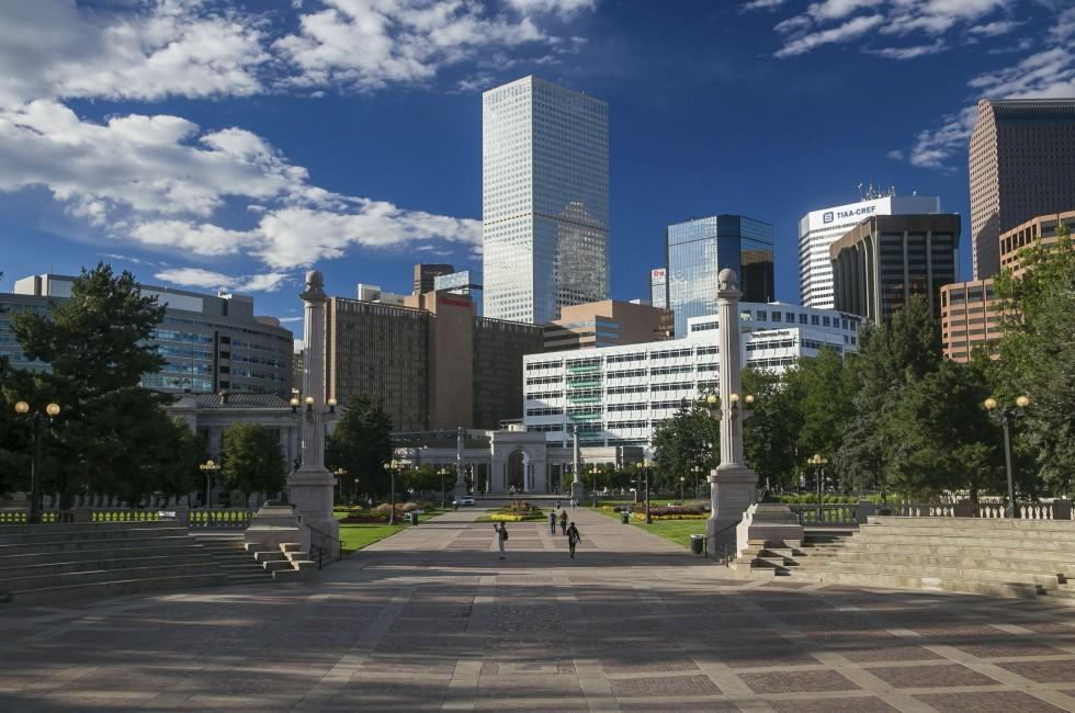 Civic Center Park, Skyline, Denver, Colorado, USA