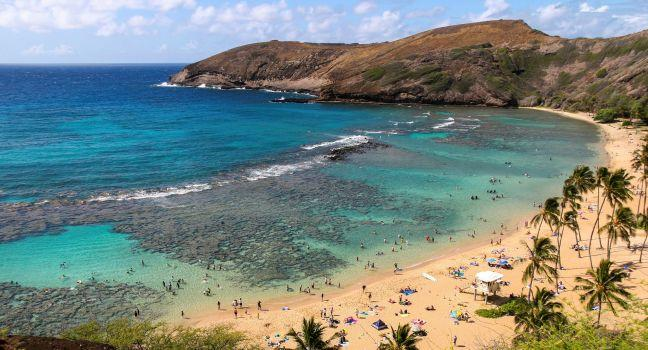 Hanauma Bay, Southeast Oahu, Honolulu and Oahu, Hawaii, USA