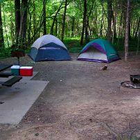 Tent, Campsite, Rock Island State Park, Rock Island, Tennessee
