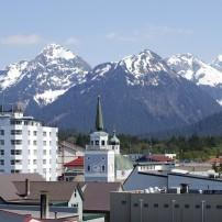 Downtown, Mountain, Sitka, Alaska, USA