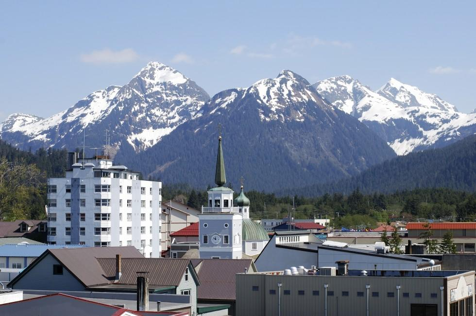 Downtown, Mountain, Sitka, Alaska, USA
