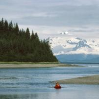 Kayak, Mountain, Inside Passage, Alaska