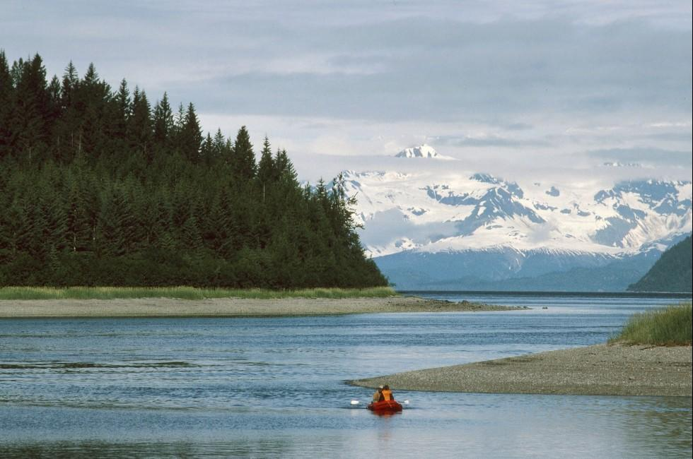 Kayak, Mountain, Inside Passage, Alaska