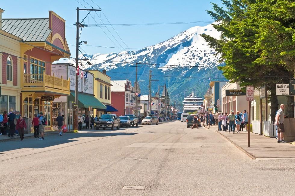 Main Street, Skagway, Alaska, USA