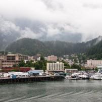 Port, Waterfront, Boat, Cityscape, Clouds, Juneau, Alaska, USA