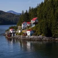 Village, Inside Passage, Alaska, USA