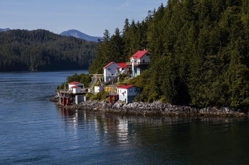 Village, Inside Passage, Alaska, USA