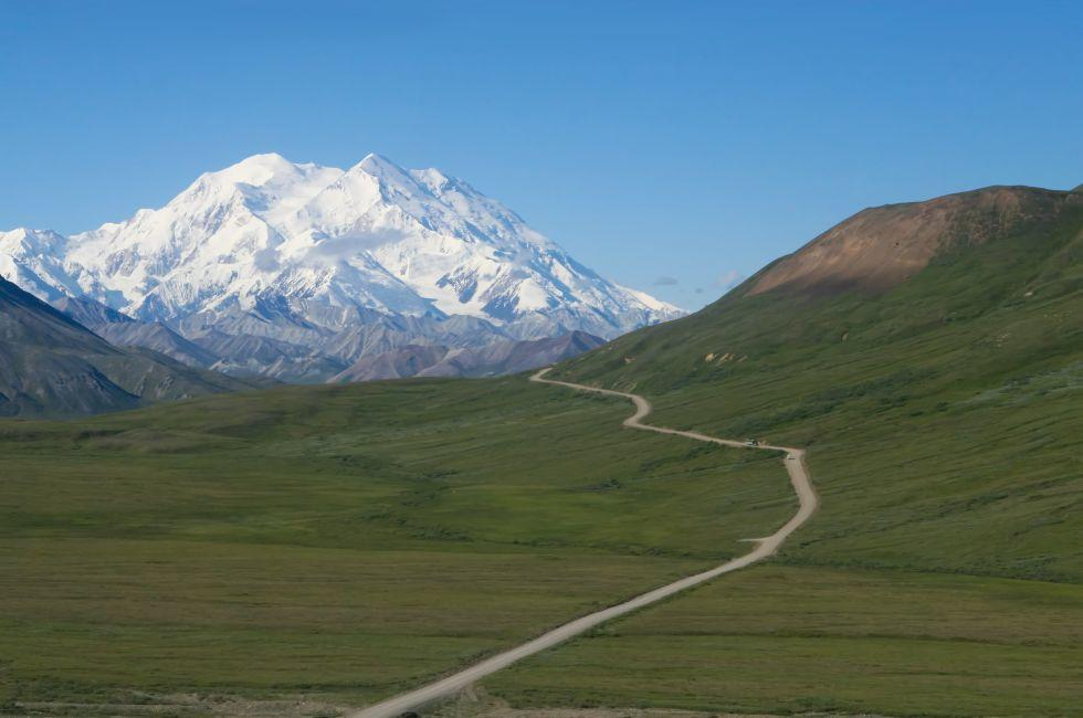 Road, Denali Mountain, Denali, Mt. McKinley, Denali National Park and Preserve, Alaska