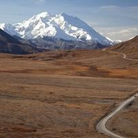 Road, Mountain, Denali National Park, Alaska, USA