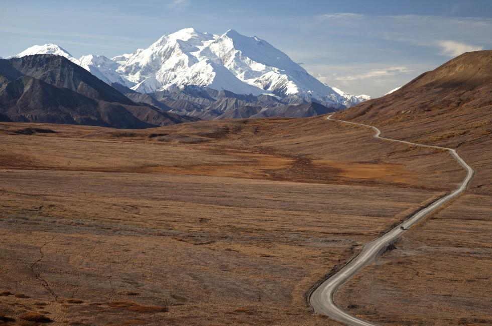 Road, Mountain, Denali National Park, Alaska, USA