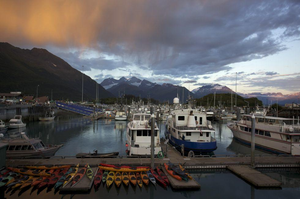 Boats, Harbor, Valdez, Alaska