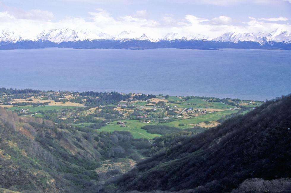 Kachemak Bay and Kenai Mountains, Homer, Alaska
