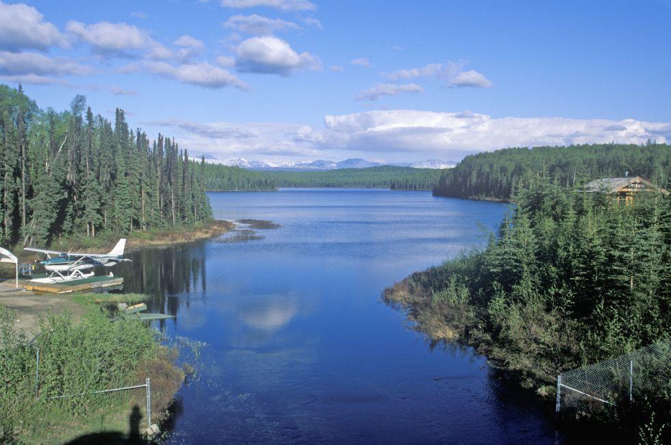 River, Talkeetna, Mat-Su Valley and Beyond, The Kenai Peninsula and Southcentral Alaska, Alaska, USA, North America