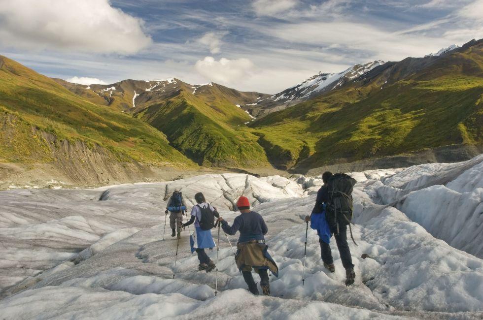 Hikers, Wrangell-St. Elias National Park, Alaska
