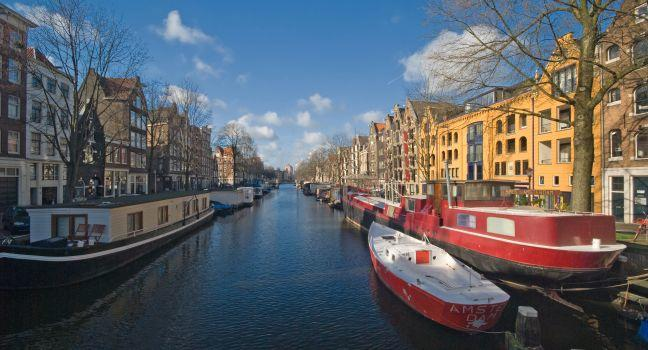 Canal, Brouwersgracht, Amsterdam, Holland