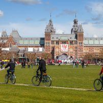 Bicycles, Rijksmuseum, Museum District, Amsterdam, Holland