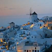Cityscape, Oia, Santorini, The Cyclades, Greece
