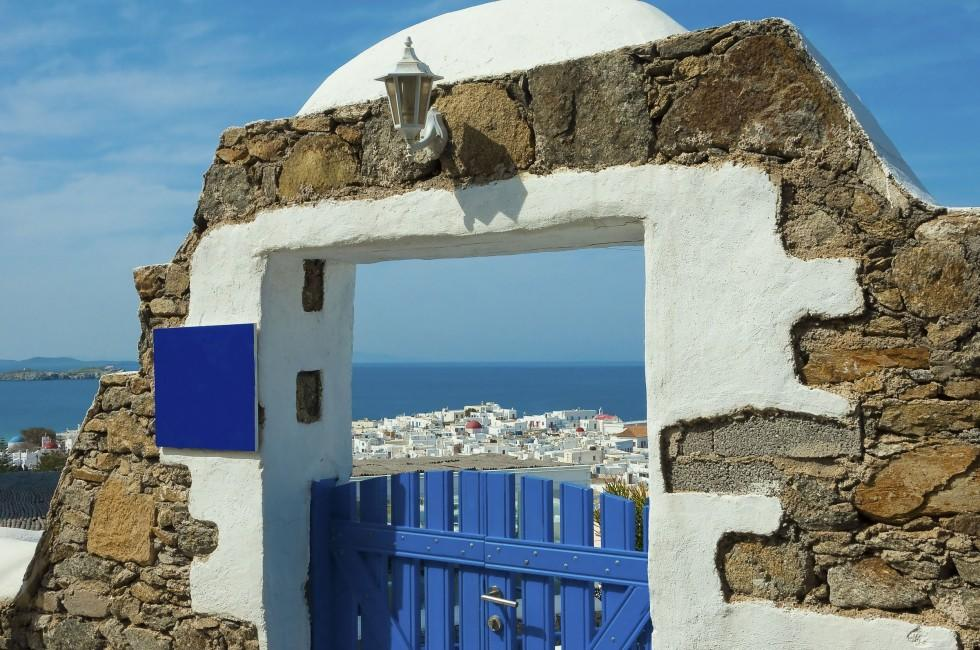Gate, Mykonos, The Cyclades, Greece