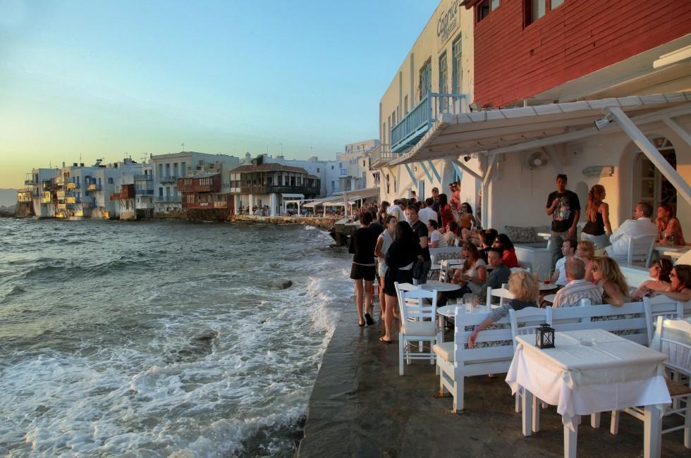 Little Venice, Buildings, Mykonos, The Cyclades, Greece