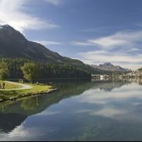 St. Moritz Lake, Graubunden, Switzerland