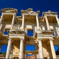 Columns, Celsus Library of Ancient Ephsus, Kusadasi, Turkey