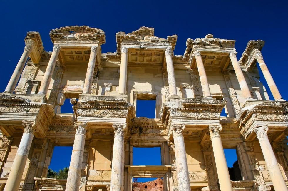 Columns, Celsus Library of Ancient Ephsus, Kusadasi, Turkey