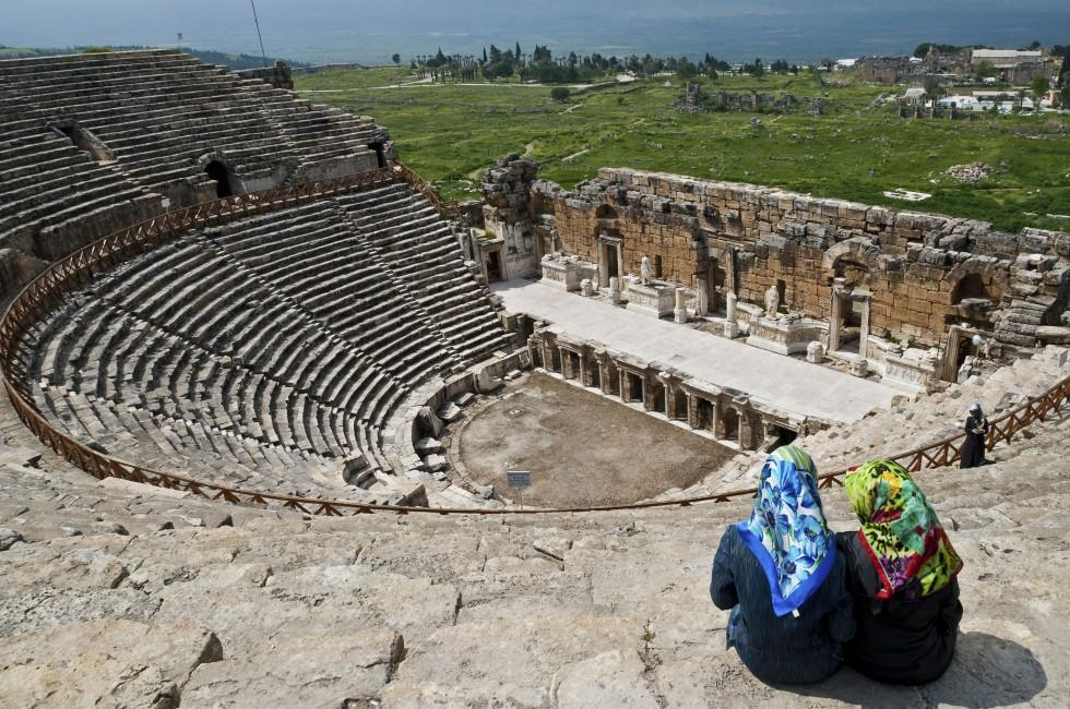 Women, Theater, Hierapolis, Pamukkale, Turkey