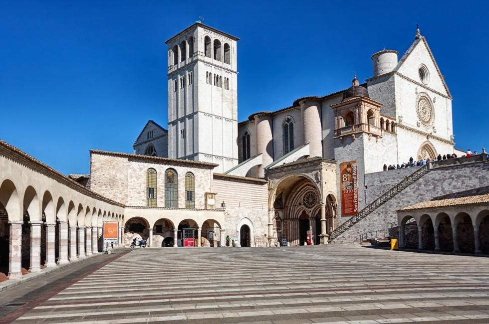 Assisi Cathedral, Assisi, Umbria and the Marches,