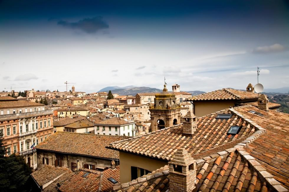 Rooftops, Pergugia, Umbria and the Marches, Italy