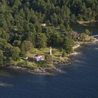 Lighthouse, Mayne Island, Vancouver Island, Strait of Georgia, Canada