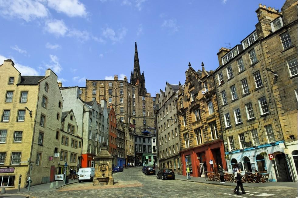 Victoria Street, Grassmarket, Edinburgh. Scotland