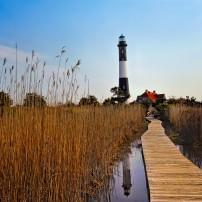 Lighthouse 1, Sunset, Fire Island, Long Island, New York, USA