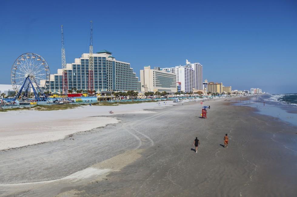 Beach, Coastline, Ferris Wheel, Daytona Beach, Florida, USA