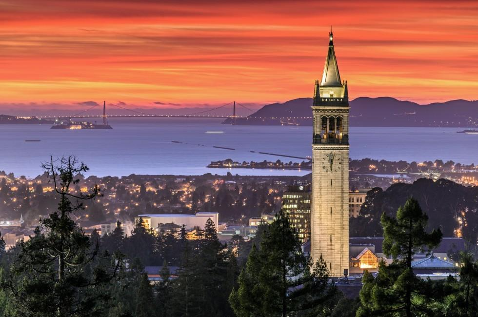 The Campanile, San Francisco Bay, Berkeley, California, USA