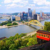 Duquesne Incline, Downtown, Pittsburgh, Pennsylvania, USA, North America