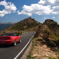 Car, Road, Rocky Mountain National Park, Colorado, USA