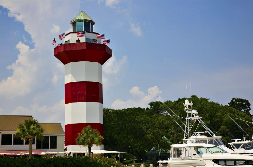 Lighthouse, Harbor Town, Hilton Head Island, South Carolina, USA