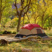 Tent, Watchman Campground, Zion National Park, Utah
