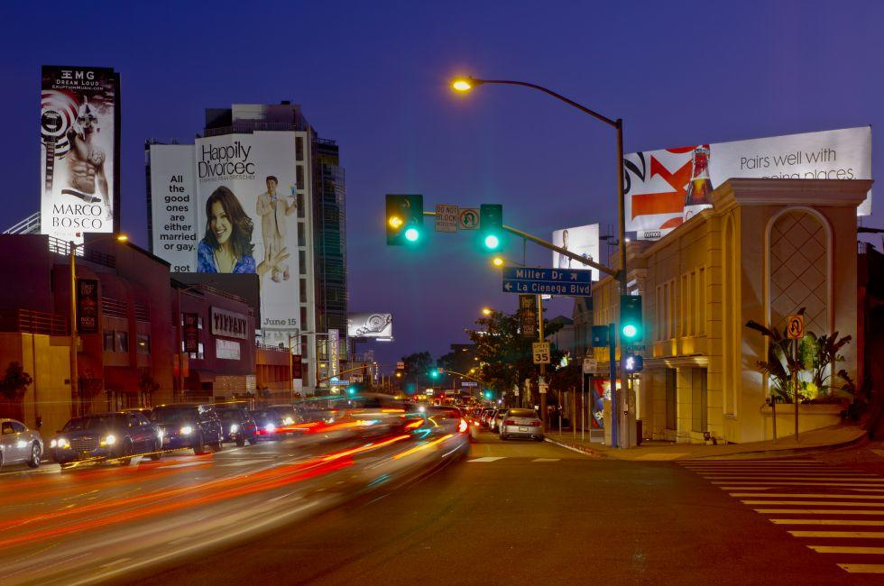 The Sunset Strip, West Hollywood, Beverly Hills and the Westside, Los Angeles, California