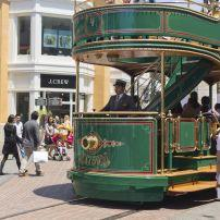 Trolley, Farmers Market and The Grove, Los Angeles, California, USA