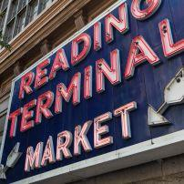 Reading Terminal Market sign, Center City, Philadelphia, Pennsylvania, USA, North America